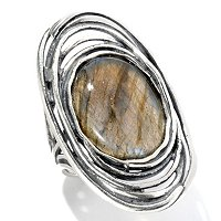 SS OVAL STONE CENTER RING