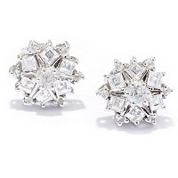 SS/PLAT EAR WHITE ZIRCON STUD