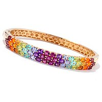 SS/P BRAC EXOTIC RAINBOW HINGED BANGLE