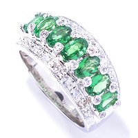 SS/P RING TSAVORITE BAND
