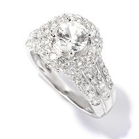 SS/PLAT RING WHITE ZIRCON