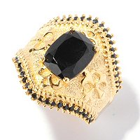 SS/18KV RING BLACK SPINEL