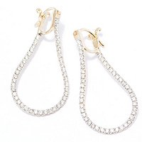 14K YG TWISTED EARRING HOOP