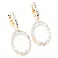 14K YG OVAL DROP EARRING