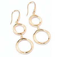 SS EAR DIAMANTINI WAVED CUT OUT DOUBLE DROP