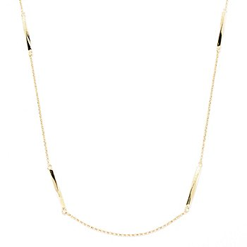129-501 - Charles Garnier Gold Embraced™ 28'' Electroform Twisted Bar Station Necklace