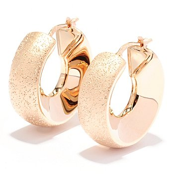 129-505 - Charles Garnier Electroform Diamantini & High-Polished Hoop Earrings