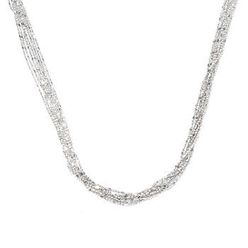 129-519 - Palatino™ Platinum Embraced™ 20'' Diamond Cut Seven-Strand Necklace