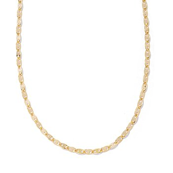 129-538 - Portofino Gold Embraced™ 60'' Polished Mariner Link Chain Necklace