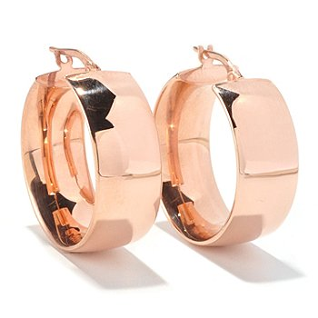 129-540 - Portofino Gold Embraced™ High-Polished Wedding Band Hoop Earrings