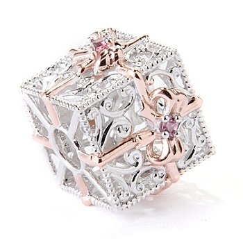 129-544 - Gems en Vogue II Pink Tourmaline Gift Box Slide-on Charm