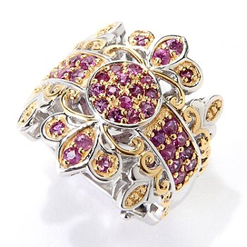 129-547 - Gems en Vogue II 1.32ctw Siamese Ruby Band Ring
