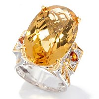 SS/PALL RING 20CT ZAMBIAN CITRINE