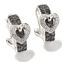 SS .25CTW BLACK & WHITE DIAMOND EARRINGS