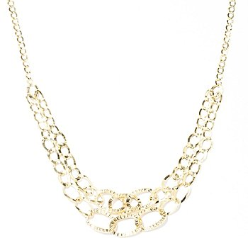 129-646 - Italian Designs with Stefano 14K 18'' Graduated Cascade Necklace