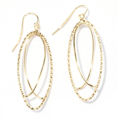 "129-652 - Italian Designs with Stefano 14K Gold ""Spirali Oro"" Drop Earrings"