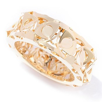 129-659 - Italian Designs with Stefano 14K Gold Mosaico Band Ring
