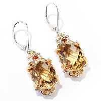 SS/PALL EAR ZAMBIAN CITRINE DROP