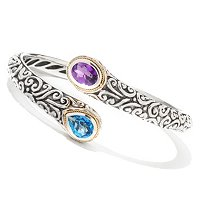 BLUE TOPAZ/ AMETHYST BANGLE