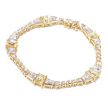 129-778 - TYCOON for Brilliante® Gold Embraced™ White & Yellow Line Bracelet