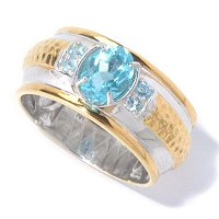 MEN'S - SS/PALL RING BRAZILIAN APATITE BAND
