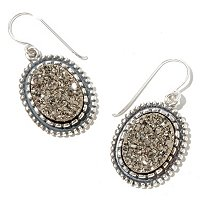 SILVERTONE DRUZY EARRINGS
