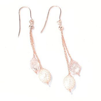 130-021 -  Italian Designs with Stefano 14K Gold Cultured Pearl & Rock Crystal Earrings
