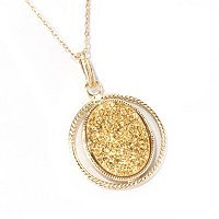 PREZIOSA COLLECTION NECKLACE/ GOLD DRUSY