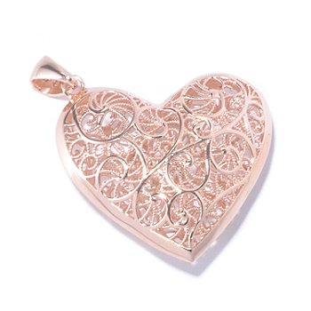 130-031 - Portofino Gold Embraced™ Filigree Heart Pendant