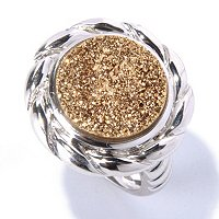 SS ROUND CHOICE DRUSY RING