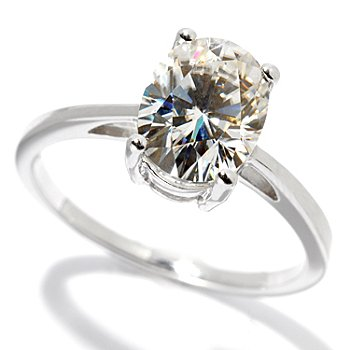 130-084 - Estrella Moissanite 14K 1.90ctw DEW Six Prong Solitaire Ring