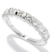 MOI 14K PRINCESS CUT TENSION SET HALF BAND RING