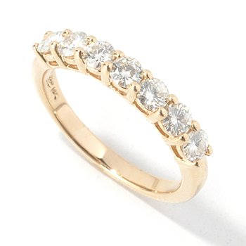 130-090 - Estrella Moissanite 14K Gold Round Cut Band Ring