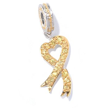 130-114 - Gems en Vogue II Yellow Sapphire Ribbon Drop Charm