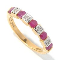 SS/P RING PRECIOUS GEM & WHT ZIRCON BAND
