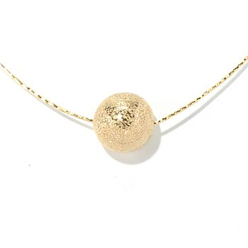 130-138 - Scintilloro™ Gold Embraced™ 18'' Pave Bead Diamond Cut Necklace