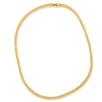 130-141 - Scintilloro™ Gold Embraced™ 18'' Diamond Cut Necklace w/ Magnetic Closure