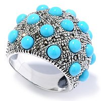 SS SLEEPING B RING WITH MARCASITE