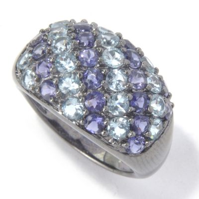 130-224 - NYC II 2.27ctw Aquamarine & Iolite Ring
