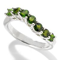 SS/P RING EXOTIC GEMSTONE 3MM WAVE BAND