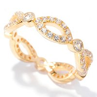 SS/P ZIRCON MARQUISE & ROUND ETERNITY BAND