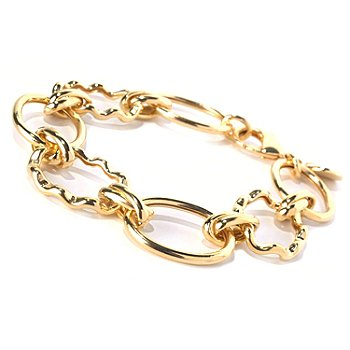 130-264 - Milano Luxe Gold Embraced™ 8'' High Polished Bracelet