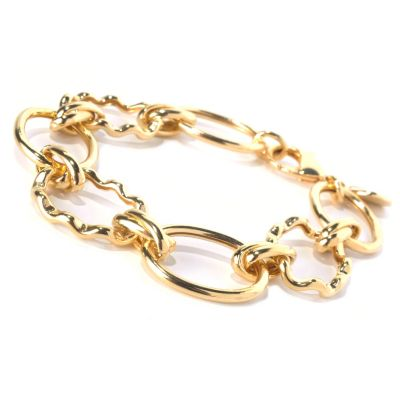 "130-264 - Milano Luxe Gold Embraced™ 8"" High Polished Bracelet"