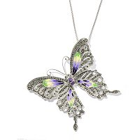 SS SWAROVSKI MARC WITH ENAMEL BUTTERFLY PIN PEND