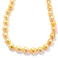 14K YG 9-12mm BAROQUE GOLDEN SOUTH SEA NECKLACE
