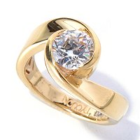TYC SS/CHOICE ROUND TYCOON CUT POLISHED SWIRL SOLITAIRE RING