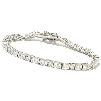 130-469 - TYCOON for Brilliante® Platinum Embraced™ Square & Round Tennis Bracelet