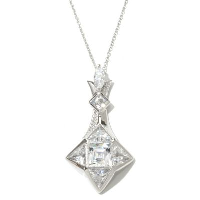 "130-473 - TYCOON for Brilliante® Platinum Embraced™ 8.39 DEW ""North Star"" Pendant w/ 18"" Chain"