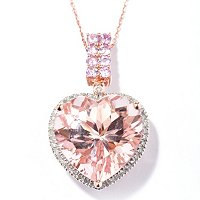 MORGANITE HEART SHAPED PENDANT