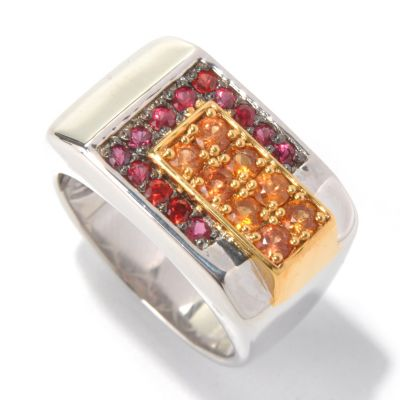 130-577 - Men's en Vogue II 1.32ctw Shades of Orange Sapphire Ring